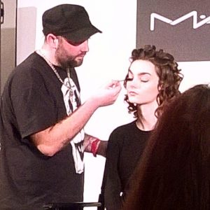 Makeup genius Andrew Gallimore during his first demo at the MAC masterclass I attended - a wonderful night!