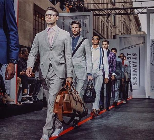 The boys at the Jermyn St show - LCM SS16