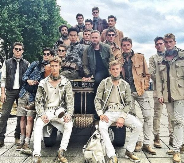The boys at Belstaff LCM SS16 - makeup designed by Maria Comparetto